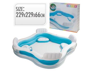 Intex bazén nafukovací 229x229x66 cm s křesílky