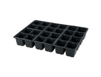Sadbovač multi plast černý 5,5x6 cm 24 ks