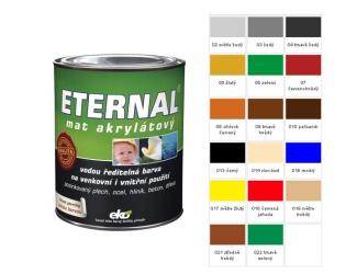 ETERNAL Barva mat akryl 0.7kg středně hnědá