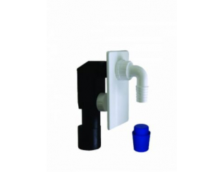 Plast brno pračkový sifon podomítkový bílý 40/50